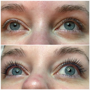 YUMI Lash Lift, front view May 2018 Beauty Time Spa