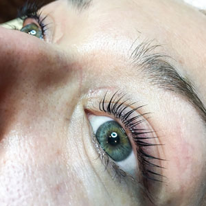 YUMI Lash Lift Maria side view May 2018 Beauty Time Spa